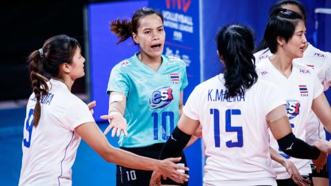 """อันดับโลก """"ลูกยางหญิงทีมชาติไทย"""" จบศึก VNL 2021"""