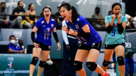 """สูสี """"ตบสาวไทย ยู-18"""" พ่าย """"บราซิล"""" ศึกชิงแชมป์โลก รอบ 16 ทีม"""