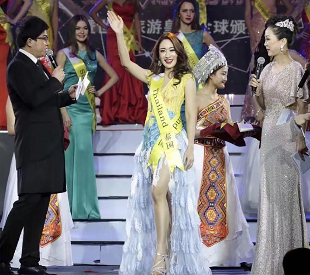 ได้ตำแหน่ง รองชนะเลิศ อันดับ2 Miss Tourism Queen Enshi มาครองแล้ว