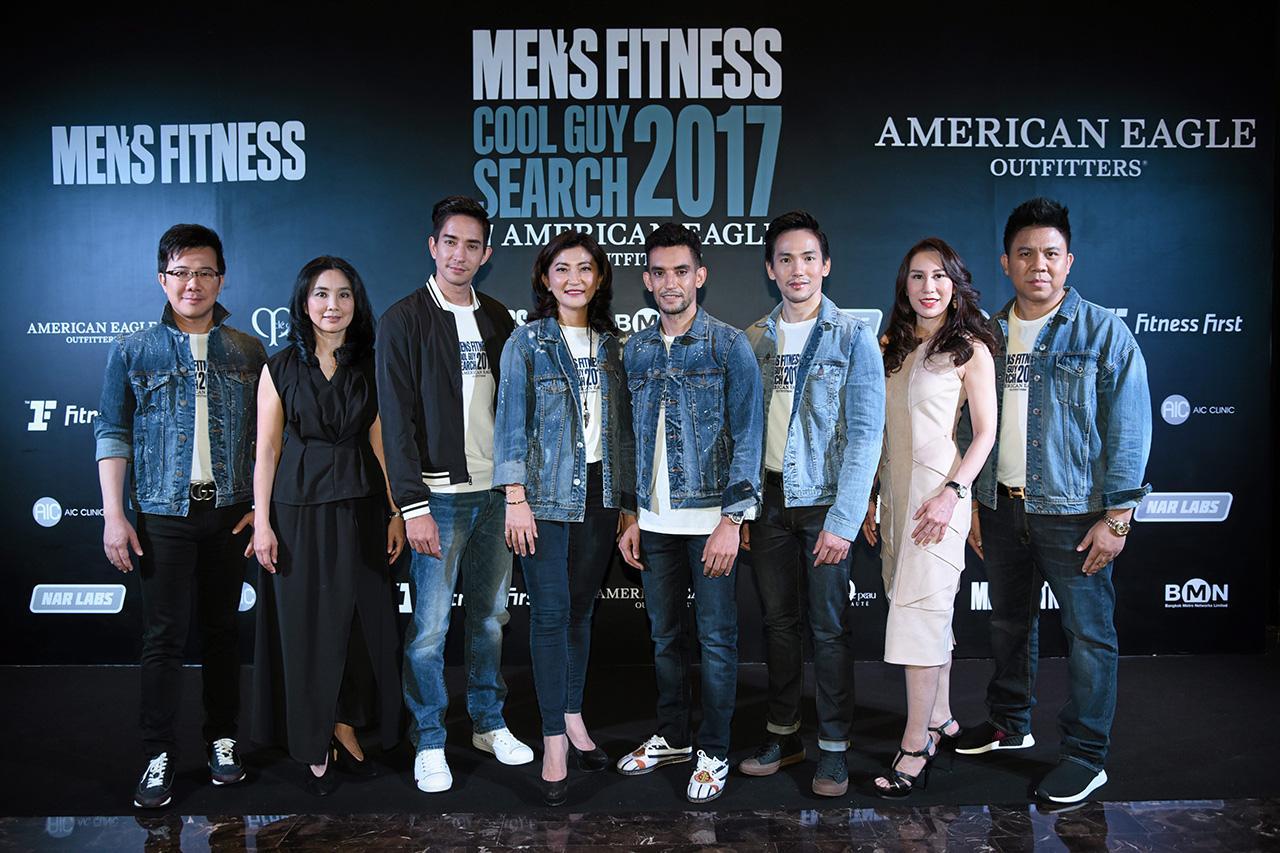 """หาหนุ่ม อาลี ซีอานี และ โศภนา เลวิจันทร์ เปิดตัวแคมเปญ """"Men's Fitness Cool Guy Search 2017 by AMERICAN EAGLE OUTFITTERS"""" เพื่อเฟ้นหาชายหนุ่มสุดคูลในรูปแบบเรียลลิตี้ ออนไลน์ โดยมี ณัฐวุฒิ ตรีวิศวเวทย์ มาร่วมงานด้วย ที่โรงแรมโอกุระ เพรสทีจ วันก่อน."""