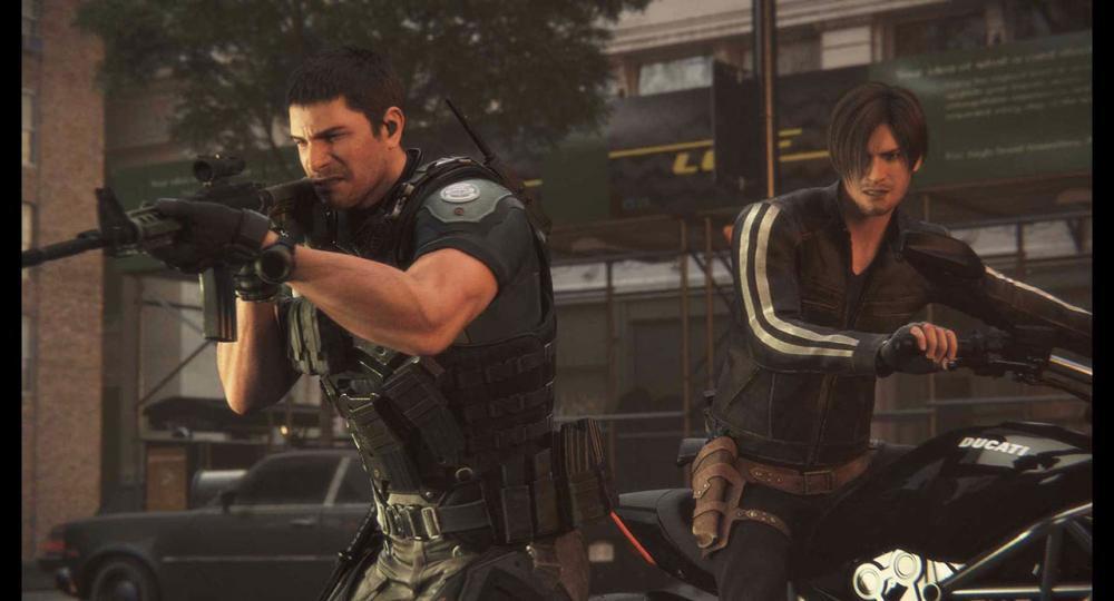 คริสและเลออน 2 ตัวละครดังจากเกม ที่พบกันในหนังแอนิเมชั่นเป็นครั้งแรก