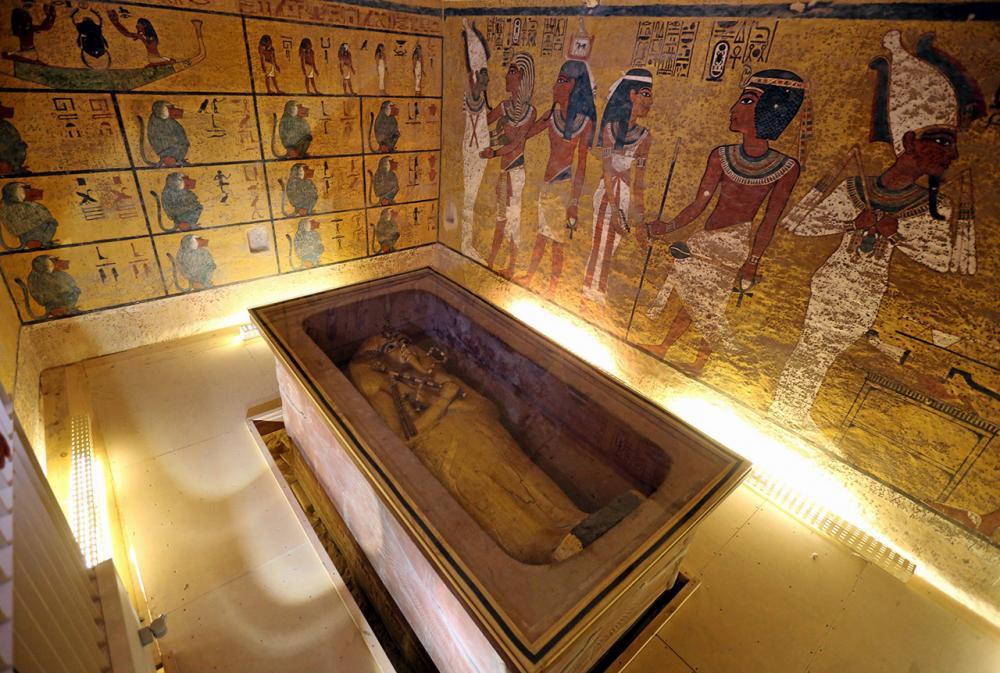 ห้องเก็บพระศพฟาโรห์ตุตันคาเมน.