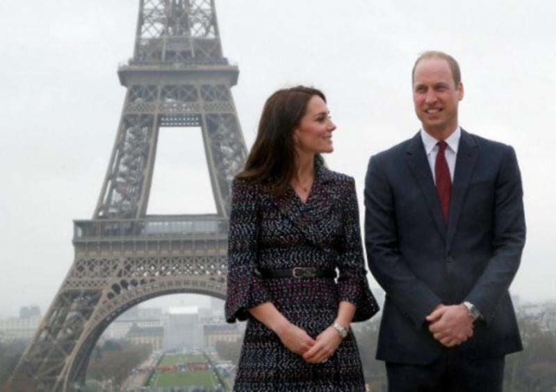 เจ้าชายวิลเลียม และเจ้าหญิงแคทเธอรีน เสด็จไปเยือนกรุงปารีส นครหลวงฝรั่งเศส เมื่อ18 มี.ค. 2560