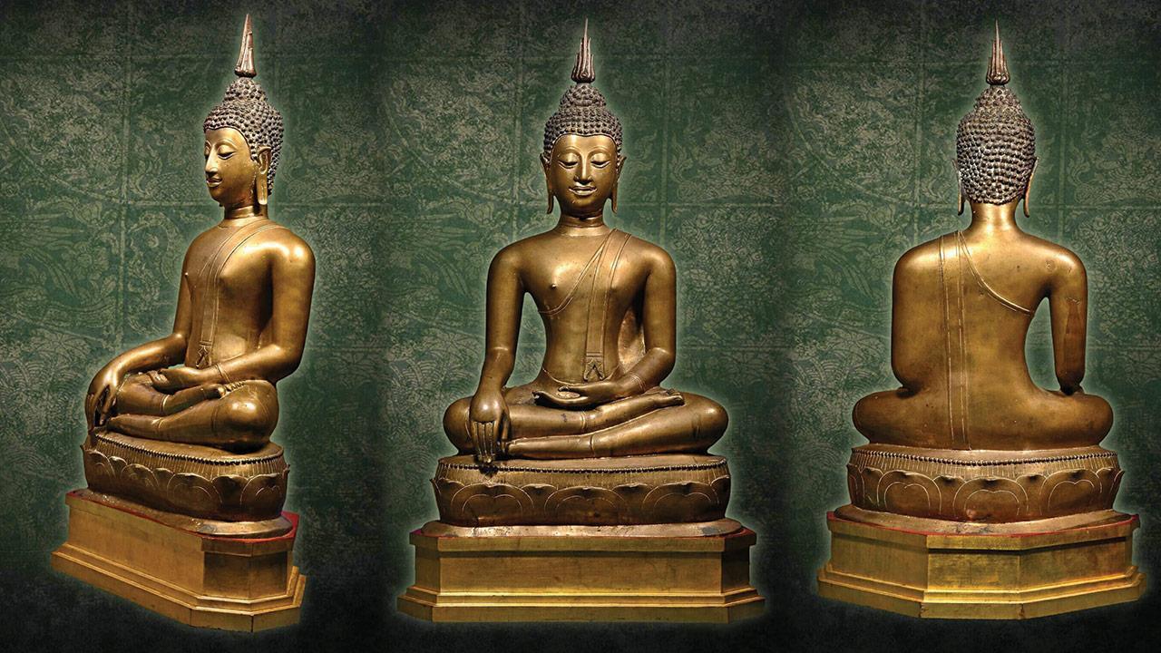 พระพุทธรูปบูชา ยุคเชียงแสน ล้านนา สิงห์ ๓ ของ โต้ง บางแค.