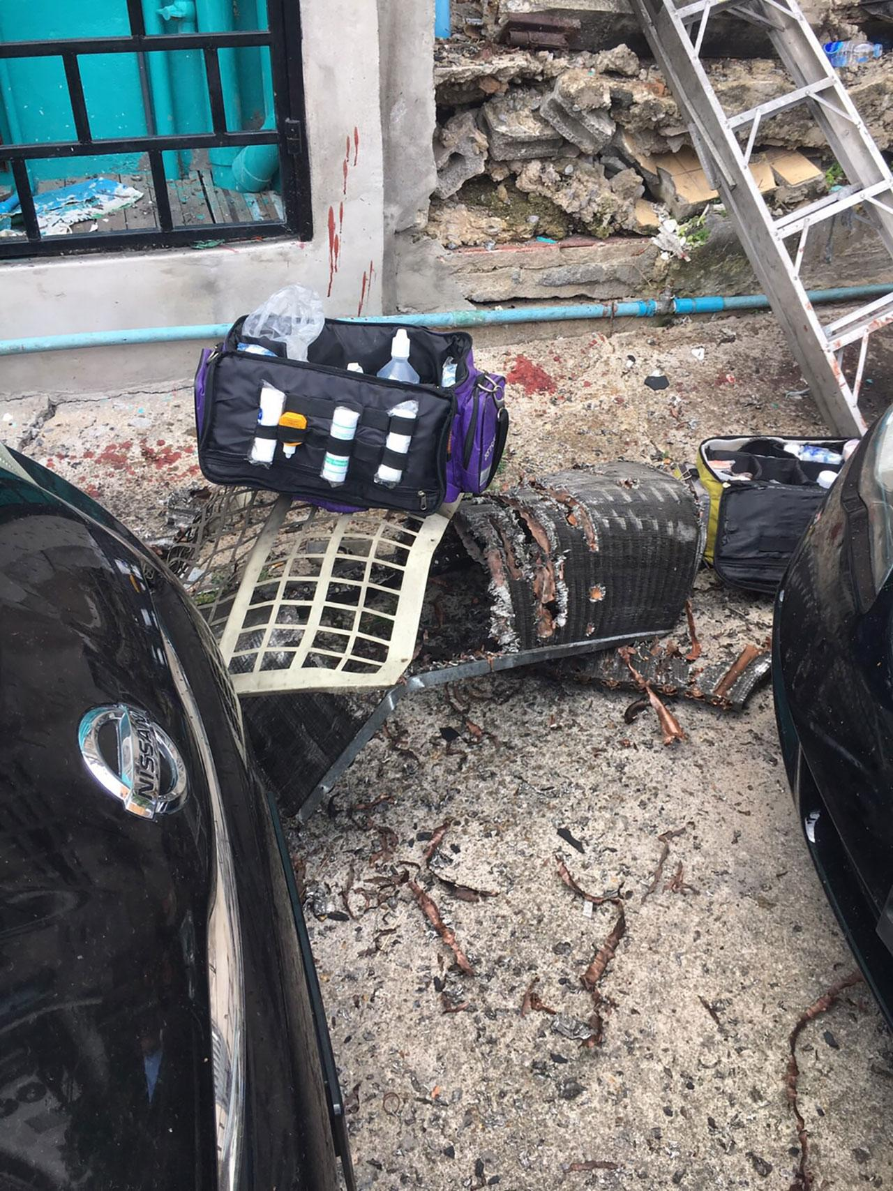 แรงระเบิดทำรถยนต์เสียหาย 6 คัน