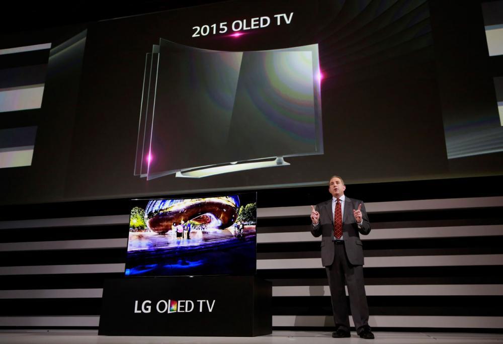 OLED ทีวีแบบจอโค้งของแอลจี