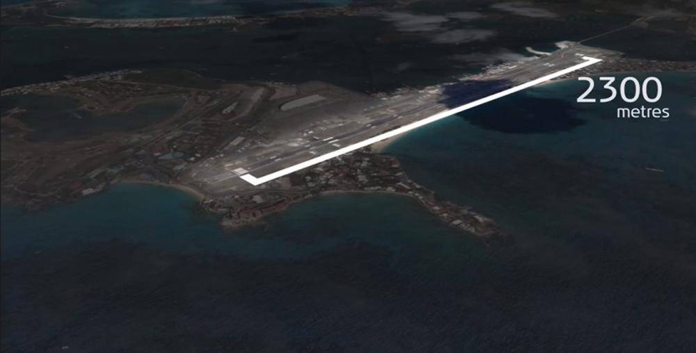 สนามบินที่มีทางวิ่งยาวเพียง 2.3 กม.ท้าทายมากสำหรับโบอิ้ง 747-400