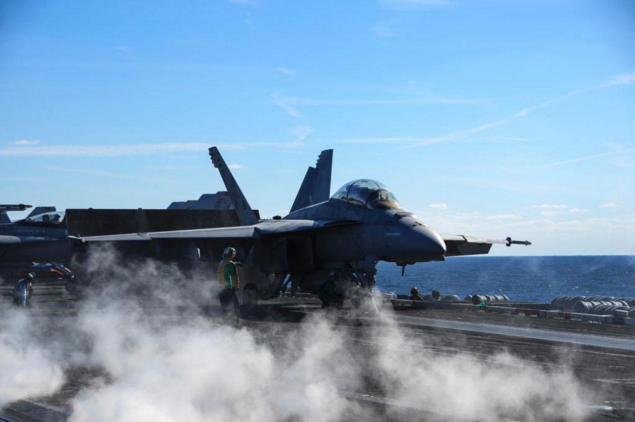 ภาพ เอฟ/เอ-18 อี ซุปเปอร์ฮอร์เน็ต จาก ทวิตเตอร์ @BoeingDefense