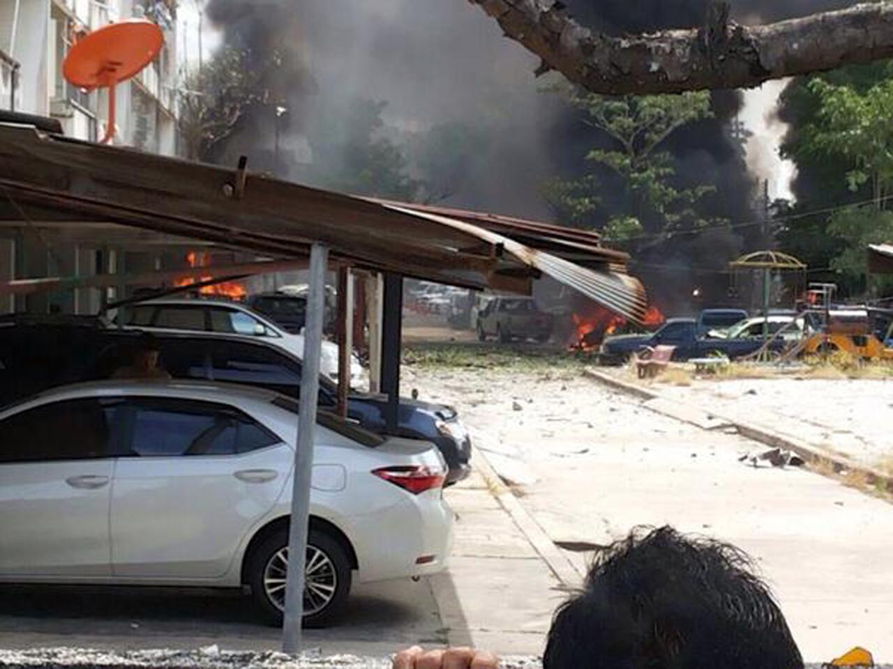 ระเบิดที่จอดรถพักของกลาง สภ.หาดใหญ่