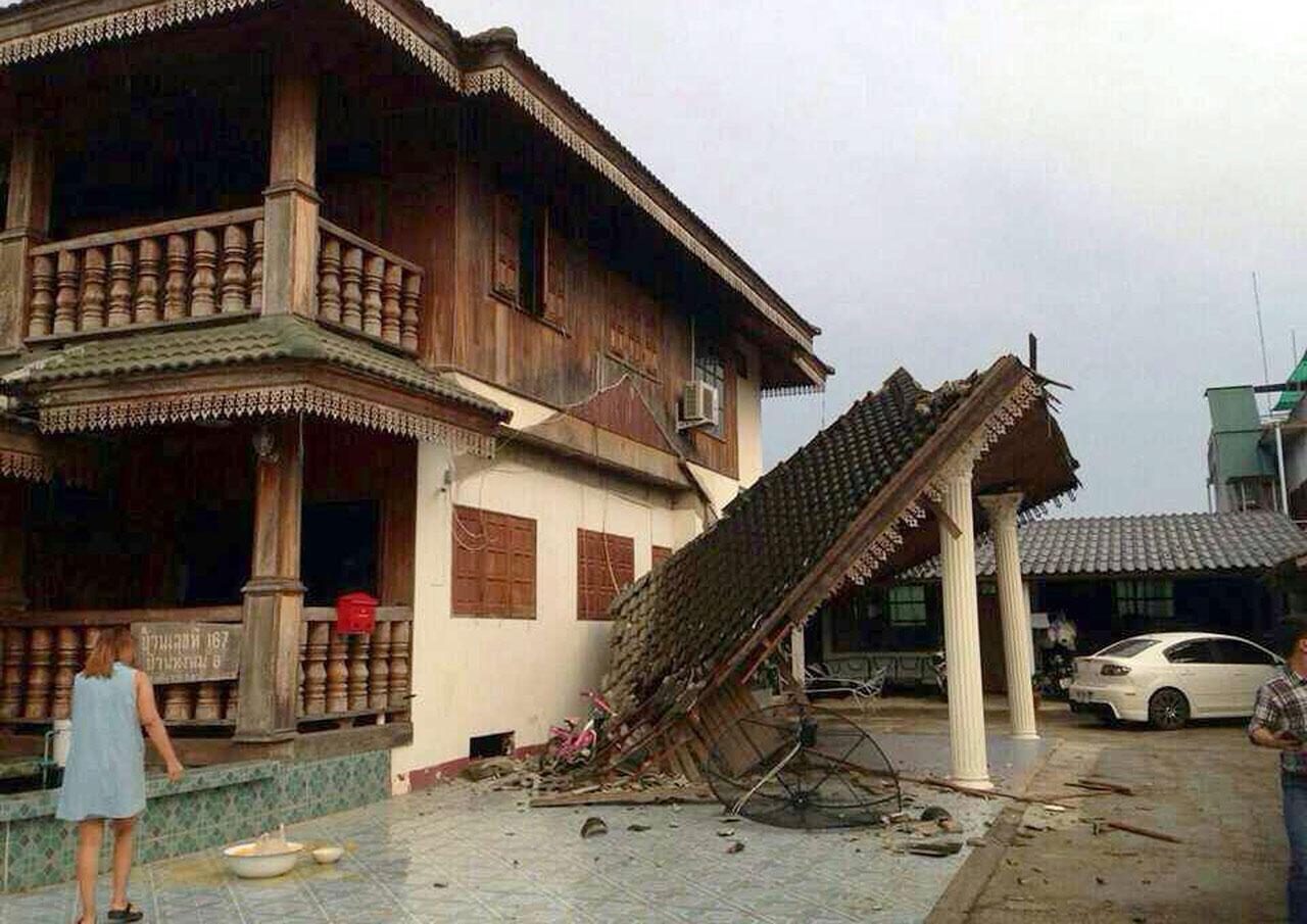 อีกหนึ่งความเสียหายจากภัยแผ่นดินไหว ซึ่งมีศูนย์กลางอยู่ในประเทศไทย