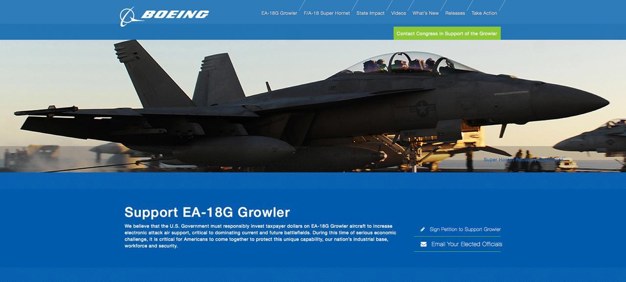 Support EA-18G Growler ของโบอิ้ง