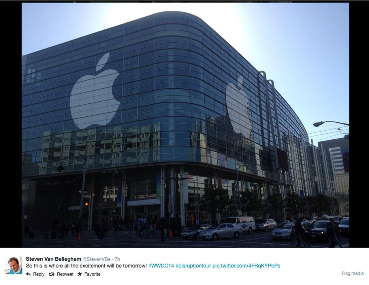 หอประชุมมอสคอน เซ็นเตอร์ ซานฟรานซิสโก สหรัฐอเมริกา สถานที่จัดงาน WWDC 2014