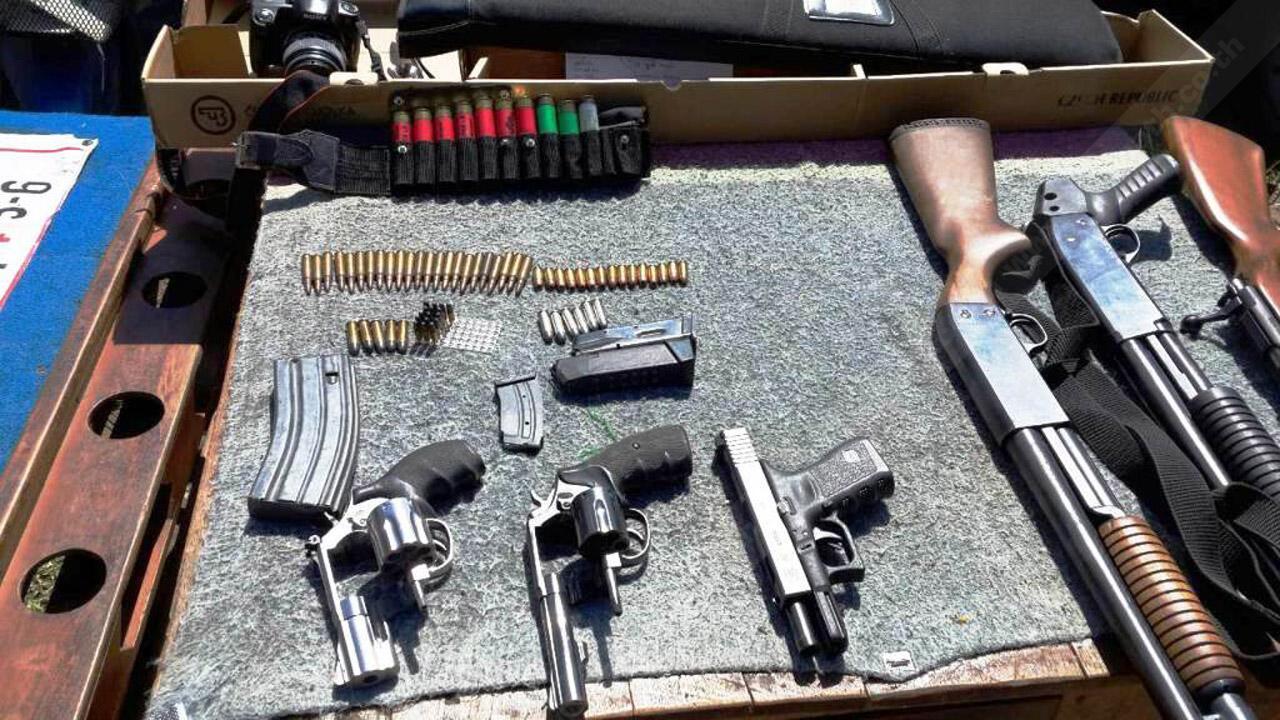 ปืนที่ผู้ต้องหาอ้างว่ามีผู้มาจำนำไว้