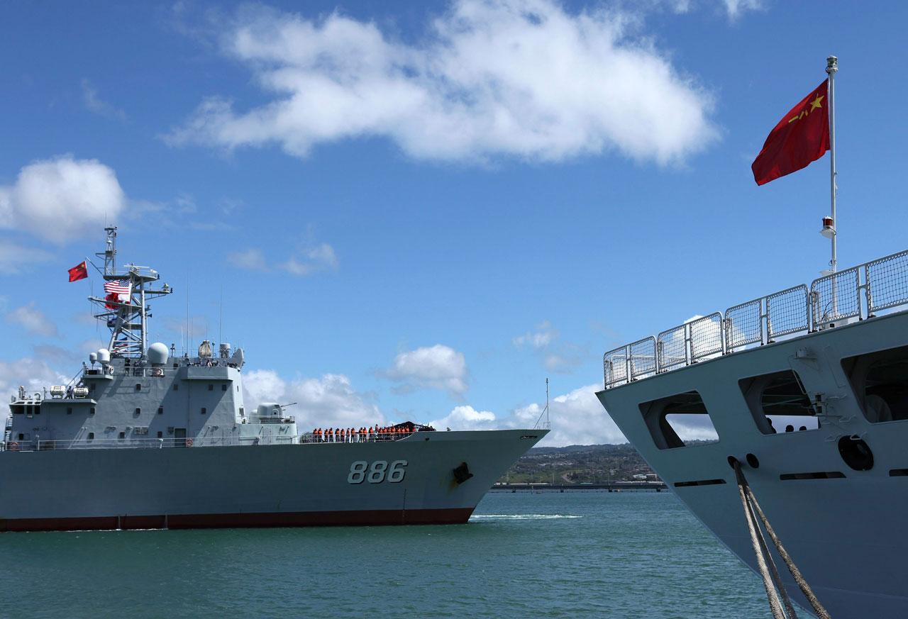 รัฐบาลจีนร่วมปฏิบัติแผนซ้อมรบทางทะเล