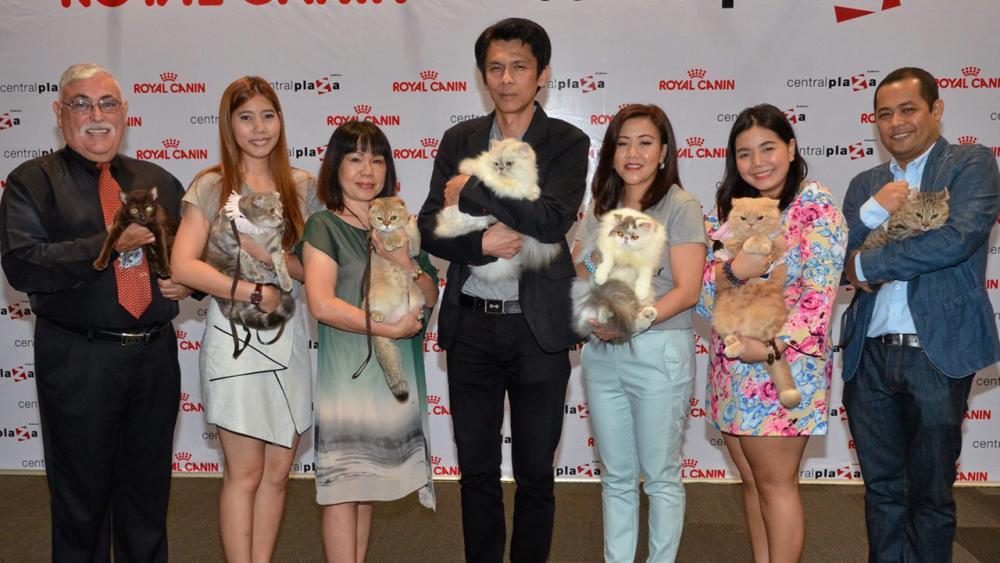 """คนรักแมว สาธิต วิกรานต์ธนากุล เปิดงาน """"2nd Royal Canin International Cat Show 2015"""" การประกวดแมวแบบมาตรฐาน CFA โดยมี กิตติมา อุดมสวัสดิ์, สุนันท์ โซวประเสริฐสุข, น.สพ.ราชัญ ชื่นบุญ และ ขวัญแก้ว สิริจินดา  มาร่วมงานด้วย ที่เซ็นทรัลพลาซา ลาดพร้าว วันก่อน."""