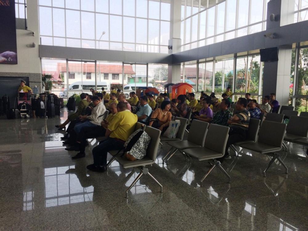 ผู้โดยสารที่ตกค้างอยู่ภายในสนามบิน
