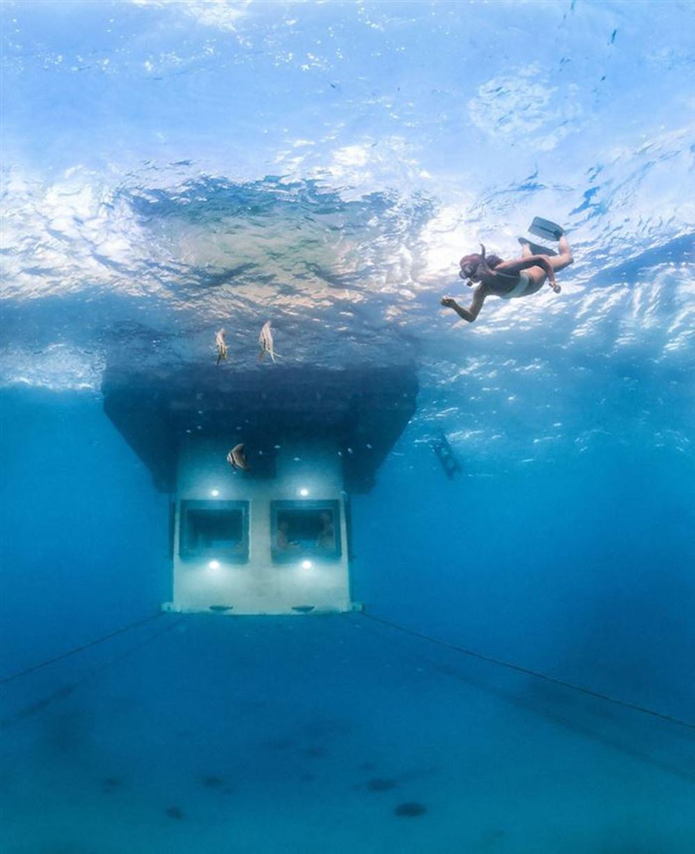 ห้องชั้นล่างสามารถชมวิวใต้ทะเลได้สุดชิค