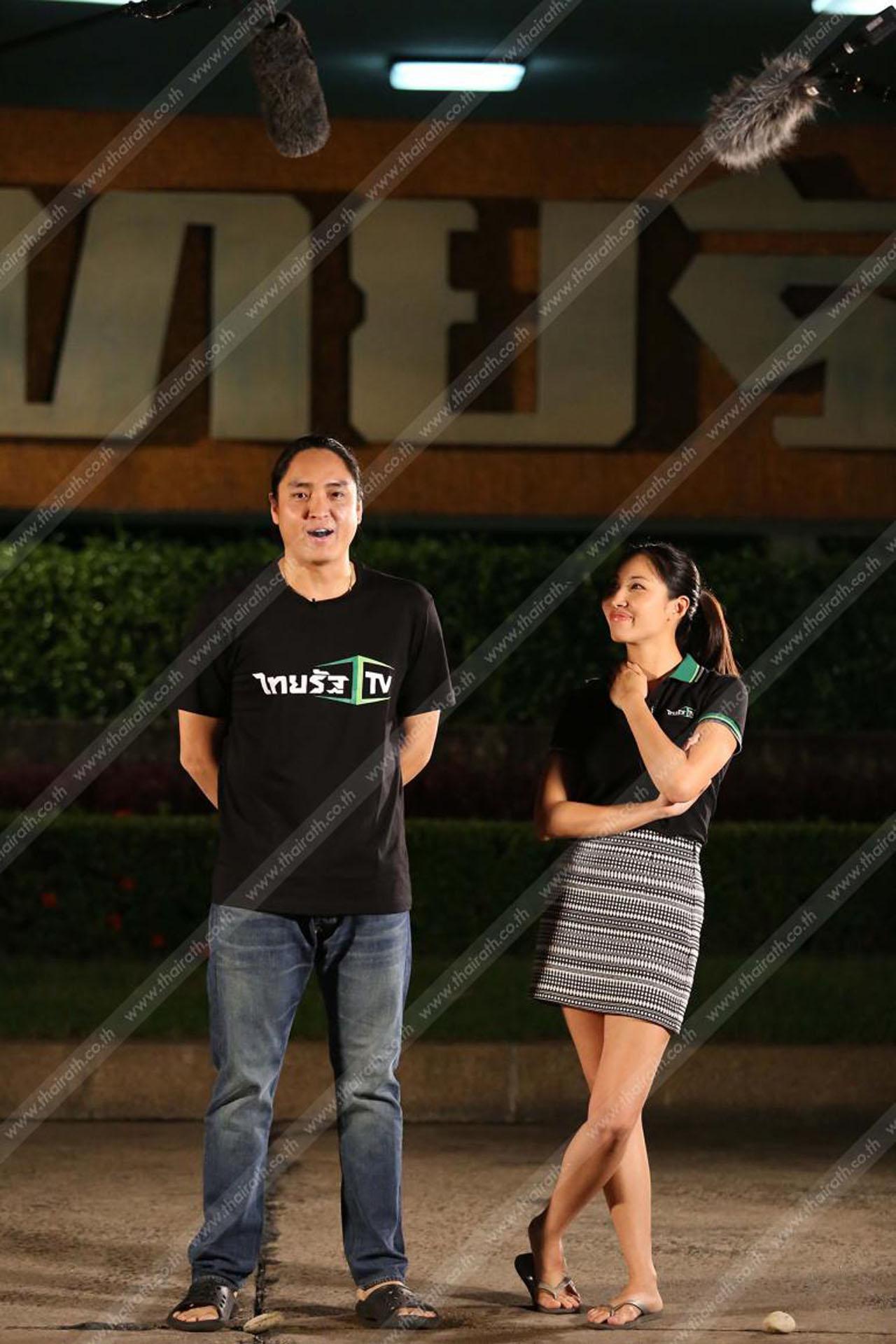 คุณนิค - คุณจูเนียร์  สองผู้บริหารแห่งไทยรัฐทีวี