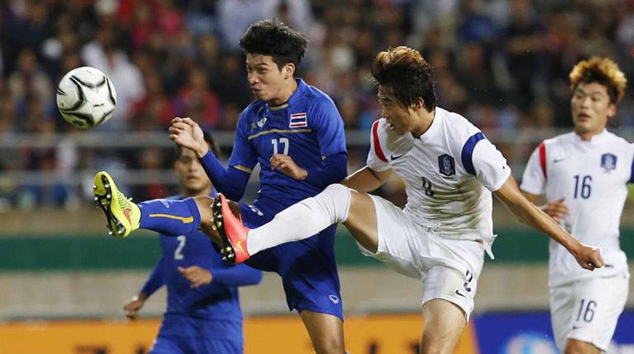 ทีมชาติไทย กับ เกาหลีใต้