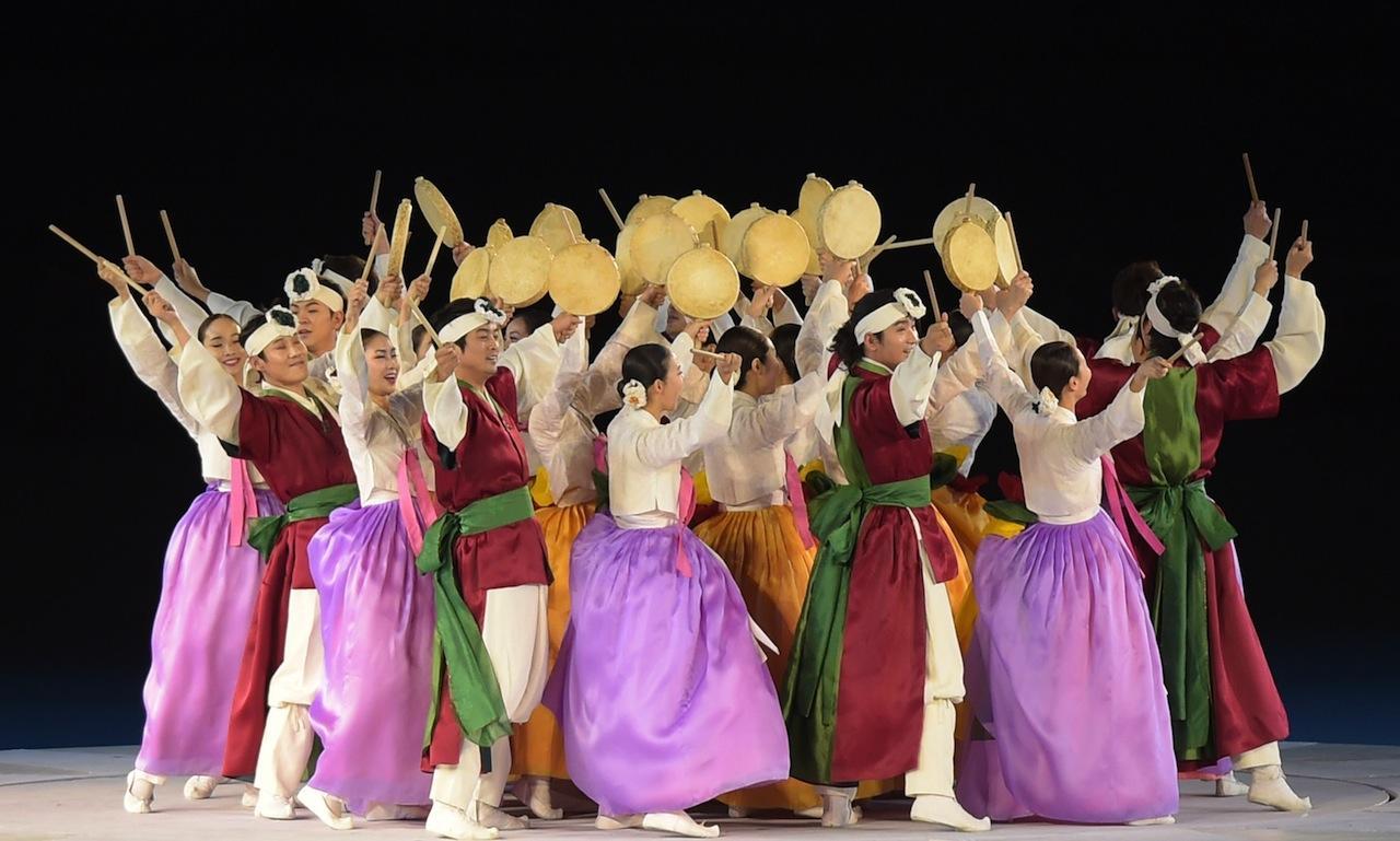 โชว์การแสดงประจำชาติของเกาหลีใต้