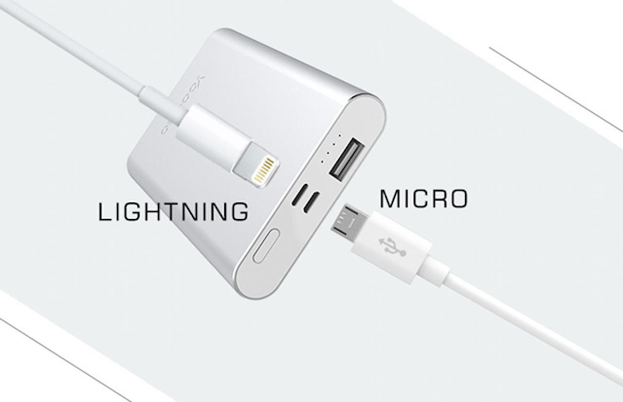 รองรับทั้งสายแบบ Lightning และ Micro USB