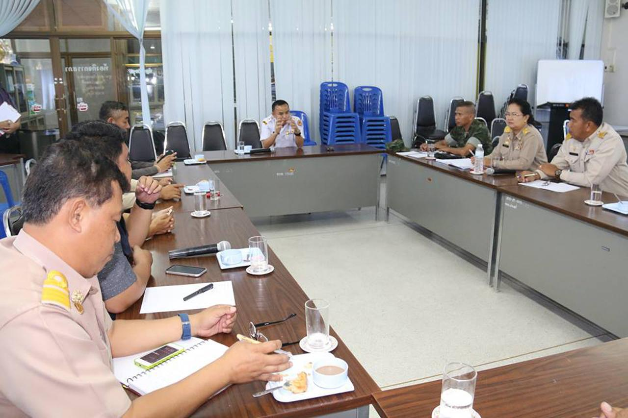 บรรยากาศการประชุมของทางอำเภอสัตหีบและฝ่ายปกครอง