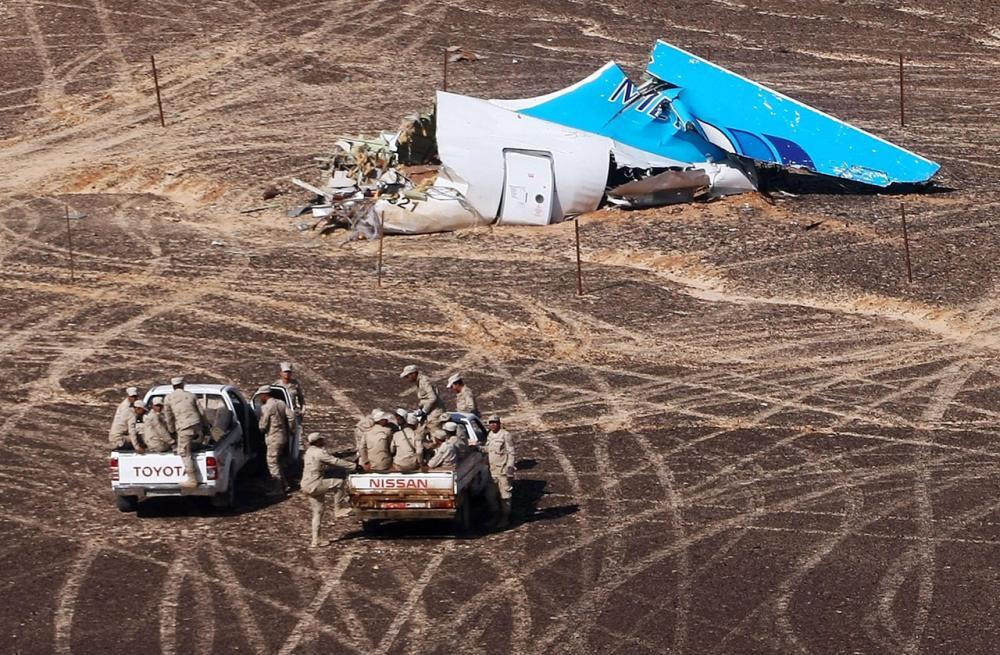 ซากเครื่องบินโดยสารสายการบินเมโทรเจ็ต ที่ตกในอียิปต์