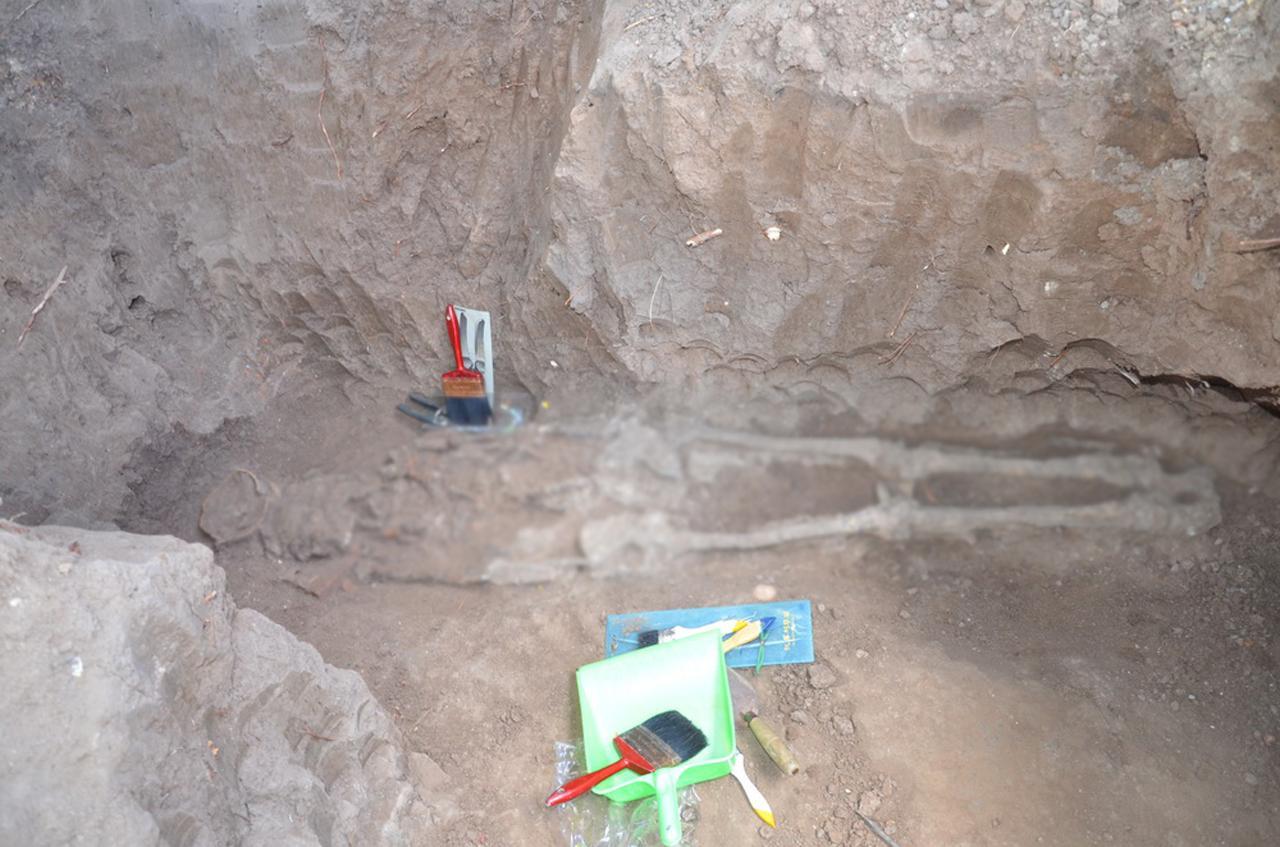 โครงกระดูกมนุษย์โบราณ ที่บ้านสำนักพิมาน อ.ด่านขุนทดโคราช