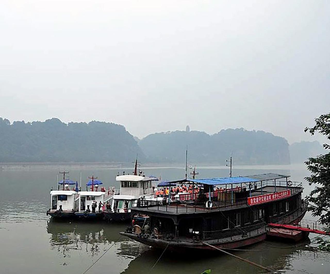 ท่าเรือที่แม่น้ำหมิงเจียง...
