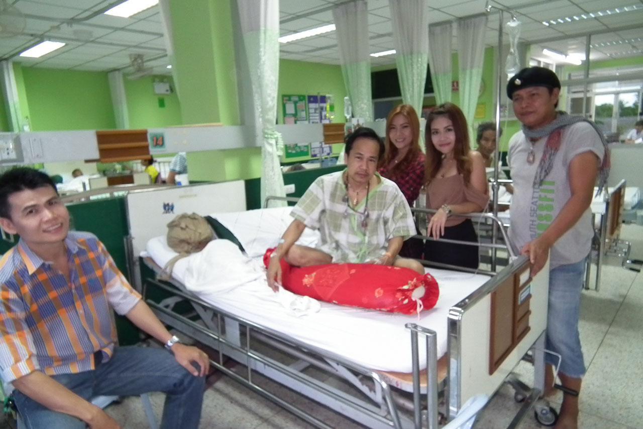 สันติ ดวงสว่าง พักรักษาตัวที่ โรงพยาบาลนภาลัย