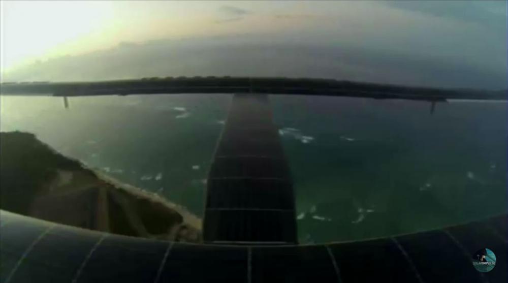 ภาพจากเครื่องบินขณะที่บินวนอยู่เหนือเกาะฮาวาย