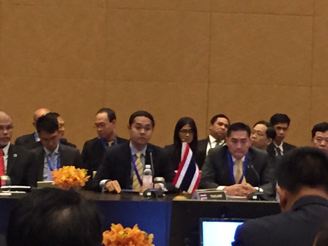 พล.ต.อ.จักรทิพย์ ชัยจินดา รอง ผบ.ตร. หัวหน้าคณะผู้แทนหน่วยงานความมั่นคงของรัฐบาลไทย ประชุม รมต.อาเซียน ด้านอาชญากรรมข้ามชาติ
