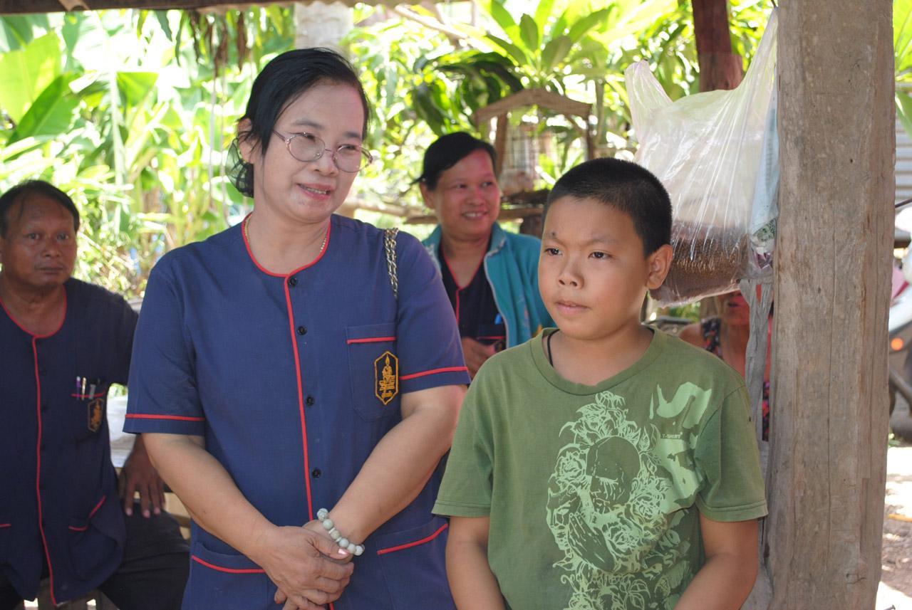 ด.ช.กันตวัฒน์ ยศถา อายุ 11 ปี หรือ น้องตี๋ เด็กชายยอดกตัญญู