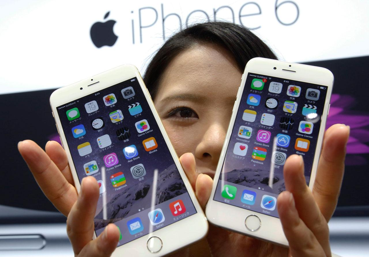 แอปเปิล ไอโฟน 6 พลัส และ ไอโฟน 6  ยังติด 2 ใน 5 อันดับแรก