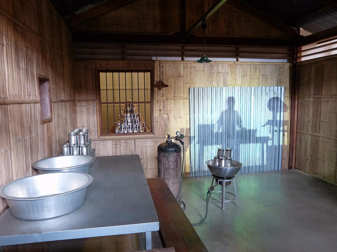ส่วนแสดงกระบวนการผลิตผลไม้กระป๋อง.