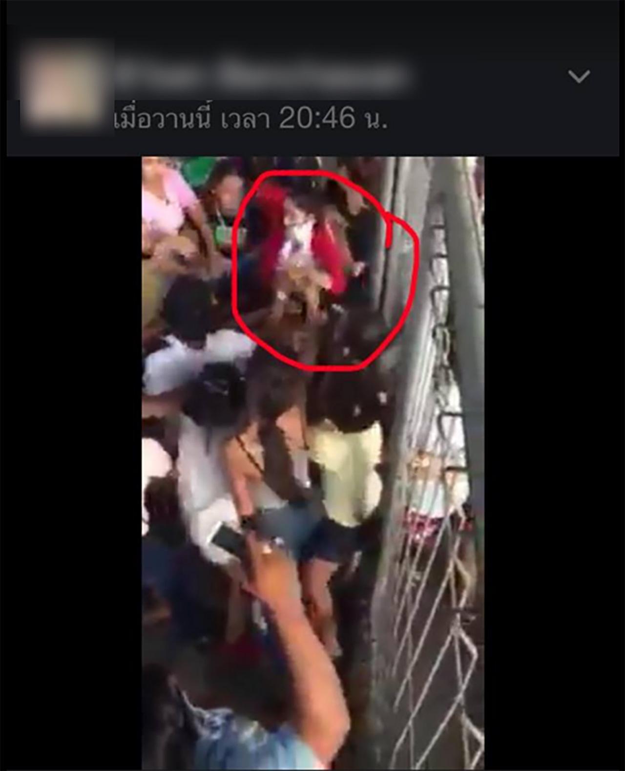 ชาวเน็ตบอกว่า ผู้หญิงเสื้อแดง มีแมสปิดหน้า คือแพท ณปภา
