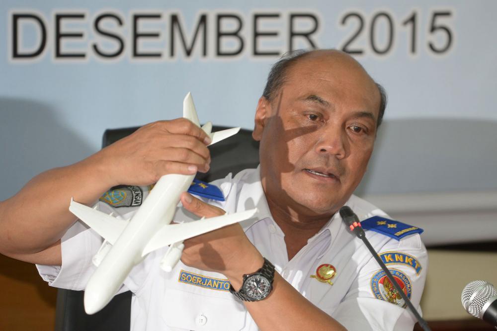 นายโซจันโต  ทจาห์โจโน หัวหน้าคณะกรรมการสอบความปลอดภัยทางคมนาคม(KNKT)ของอินโดนีเซีย