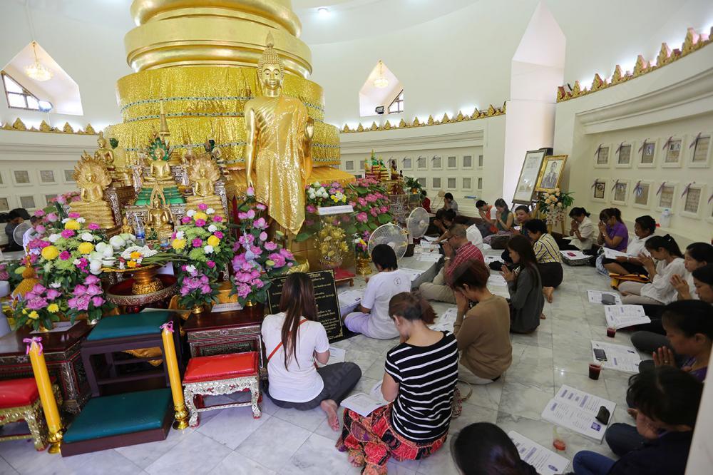 ร่วมกันสวดมนต์รับปีใหม่ไทย