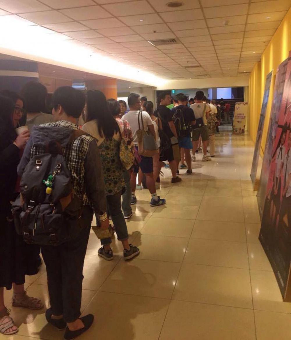 ชาวไต้หวันเข้าคิวของบัตรเข้าชมภาพยนตร์ไทยยาวเหยียด