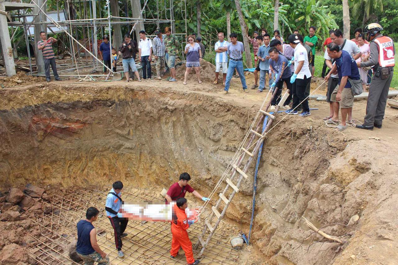 ดินถล่มทับคนงานก่อสร้าง บ่อประปาหมู่บ้าน ดับอนาถ ที่แพร่