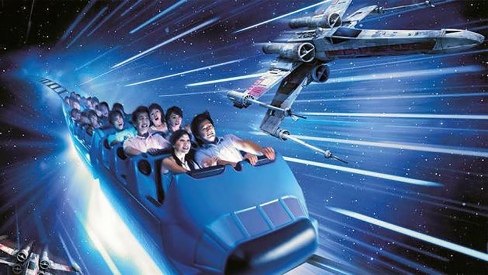 เครื่องเล่น Hyperspace Mountain