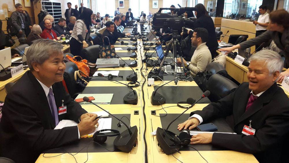 คณะฝ่ายประเทศไทยร่วมประชุม นำเสนอรายงานประเทศภายใต้พันธกรณีอนุสัญญาว่าด้วยสิทธิคนพิการ ต่อคณะกรรมการว่าด้วยสิทธิคนพิการ ที่สำนักงานองค์การสหประชาชาติ ณ กรุงเจนีวา ประเทศสวิตเซอร์แลนด์