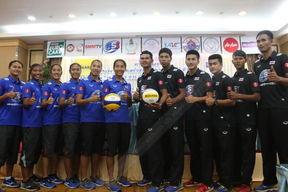 โฉมหน้าเหล่านักตบลูกยางชาย-หญิงไทย ที่จะลงทำการแข่งขันทั้ง 2 รายการ