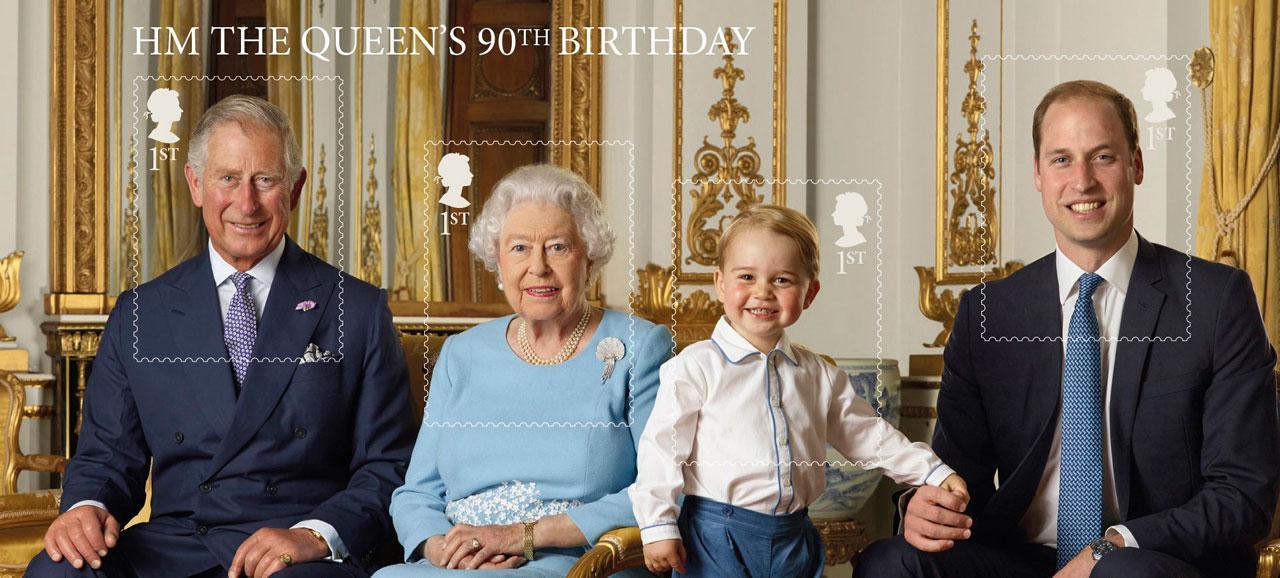 แสตมป์ราชวงศ์อังกฤษ ฉลองควีนเอลิซาเบธที่ 2 ทรงมีพระชนมพรรษาครบ 90พรรษา