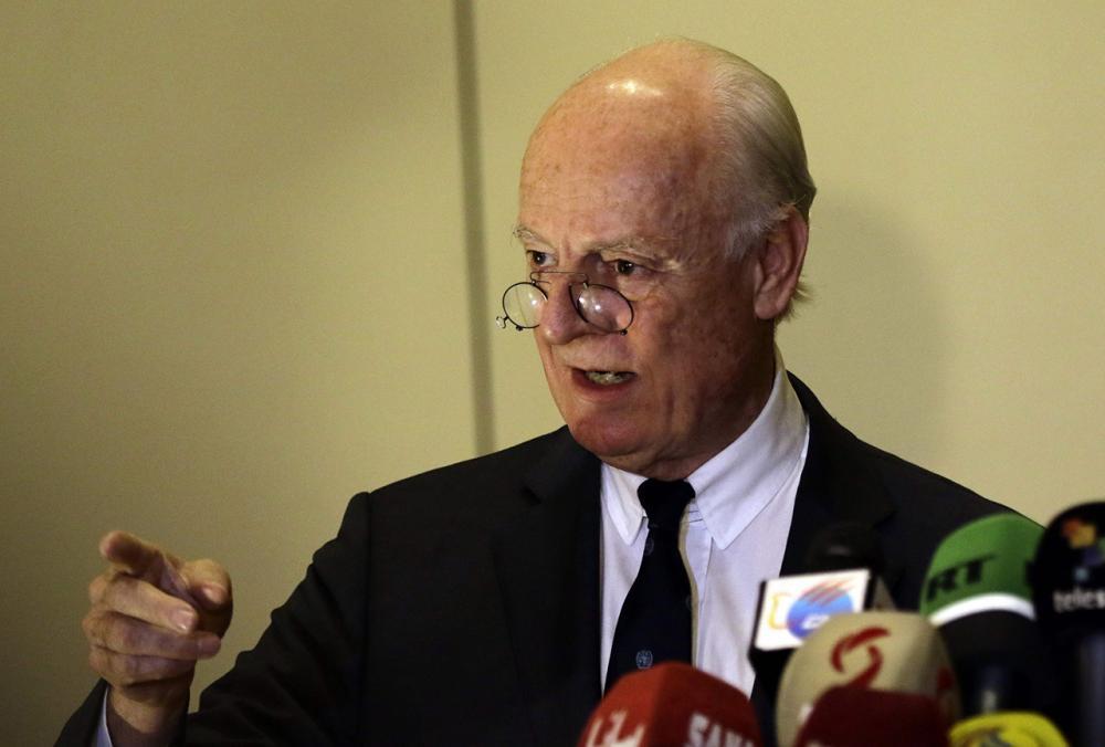 นายสตาฟฟาน เด มิสตูรา ทูตพิเศษสหประชาชาติประจำซีเรีย
