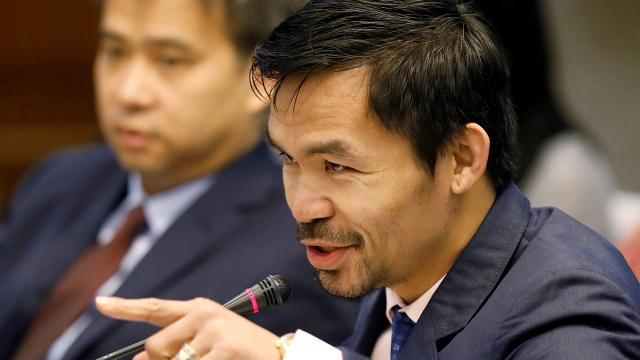 """ฮือฮา """"ปาเกียว"""" พร้อมสู้สมัครชิง """"ผู้นำ"""" ฟิลิปปินส์"""