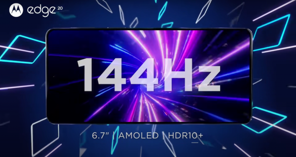 Motorola Edge 20 Pro รองรับรีเฟรชเรต 144Hz