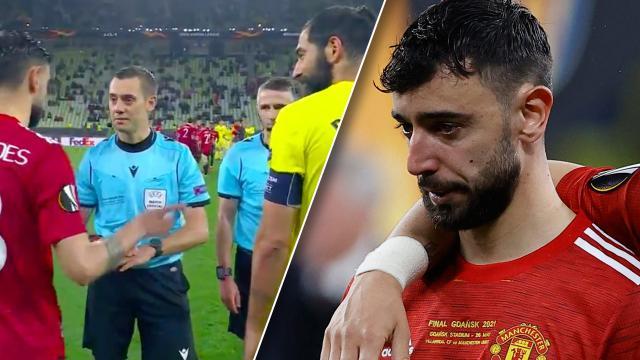 """โซเชียลรุม """"บรูโน"""" พลาด ให้ บียาร์เรอัล ยิงจุดโทษก่อน แมนยูฯ วืดแชมป์ยูโรปาลีก"""