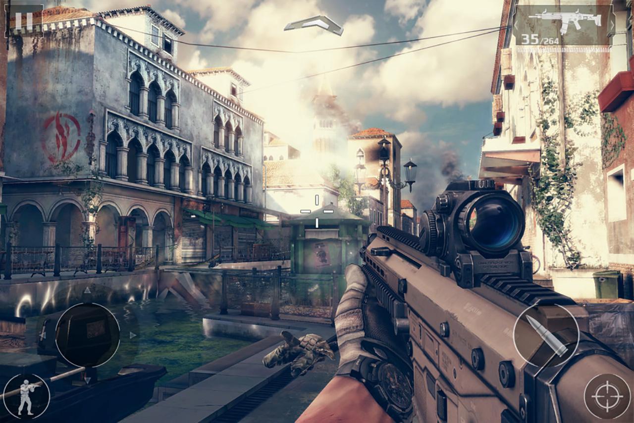 เกม Modern Combat 5: Blackout บน Microsoft Surface Pro 3