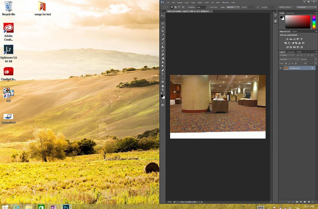 SurfacePro3 Adobe Photoshop UI
